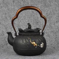 日本铁壶生产厂家批发龙秀堂高端铸铁茶壶私人定制定做福袋寺工堂