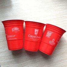 一次性PS聚会红白塑料双色杯/双色啤酒杯/聚会红白杯