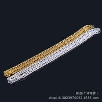 电镀合金饰品 欧美 单环侧身项链 男士铁项链 仿真黄金首饰