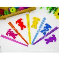 新款厂家批发韩国卡通女孩儿童练习筷子学习筷宝宝婴儿训练筷餐具