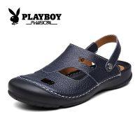 花花公子凉鞋夏季真皮男士凉鞋男士包头鞋沙滩鞋 时尚凉鞋CX37074