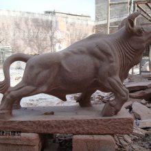 建宾雕刻直销红砂石石雕牛