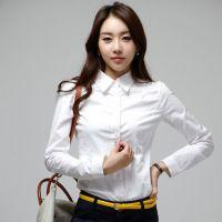 供应钲兴ZX-586量身定制全棉免烫女士修身新款衬衫