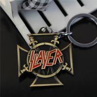 外贸热销   速度金属乐队 Slayer 合金钥匙扣 挂件批发速卖通热卖