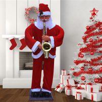 圣诞用品 圣诞场景布置 热卖1.8米圣诞电动老人 吹萨克斯老人