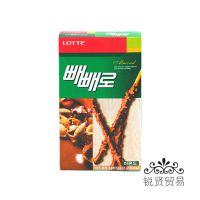 韩国原装进口巧克力棒 韩国乐天杏仁巧克力棒 32g EXO代言