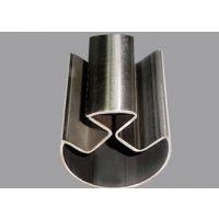 304不锈钢双槽圆管 优质达标送货上门