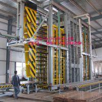 供应国际领先设计重竹地板热压机成套设备国森机械