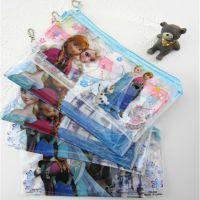特价迪士尼PVC笔袋冰雪奇缘文具袋卡通女孩铅笔袋外贸尾单