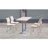 加厚直边四人分体餐桌椅铸铁脚配曲木不锈钢活动椅ft4-065