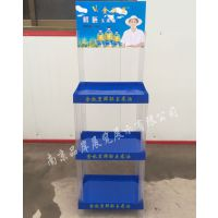 【厂商】礼品油促销陈列架调味油塑料托盘架稻米油广告组合摆放架