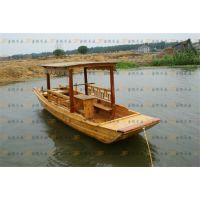 供应4米木质单蓬手划船 农用木船 公园观光手划木船 水上旅游赏景船
