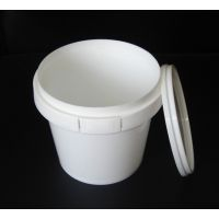 厂家供应1.2升塑料桶 小塑料包装桶 圆形桶 全新食品材质 现货(Hh-088)