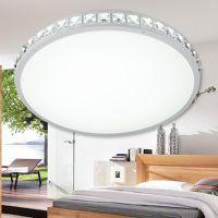 厂家直销客厅灯水晶吸顶灯卧室餐厅灯饰灯具圆形LED现代简约变色