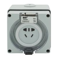 指印 工业防水插座 250V 10A工业连接器 IP66级 国标小5孔(ZA66SO310)防水插座