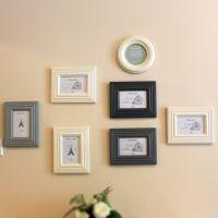 美式乡村复古做旧组合相框照片墙 欧式地中海壁挂照片墙 壁饰墙饰
