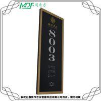 长方形竖装电子门牌(金框)HY-360J