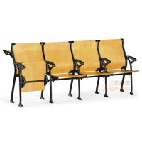 培训排椅 多人连接培训椅 曲木阶梯教室排椅定做厂家 众晟家具