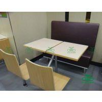 优质快餐桌椅组合 肯德基板式四人位餐桌椅批发 运达来定做