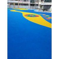 福建泉州篮球场地施工 EPDM彩色塑胶球场 橡胶安全地垫