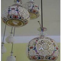 厂家出售 中式现代创意玻璃餐吊灯 彩色镂空客厅餐吊灯