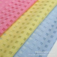 现货厂家直销韩版原料 0.5cm格子欧根纱透明服装面料 时尚裙面料