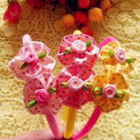 热卖儿童发箍 新款儿童发箍  太阳花朵儿童发箍 玫瑰花儿童发箍