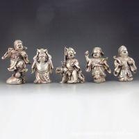 古玩杂项 白铜打造精美造型 五路财神 摆件居家收藏 批发定制
