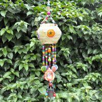 热销创意民族手工编织工艺品 草萝存钱罐吊片风铃挂件L0423-1