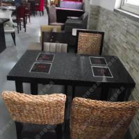 天然大理石火锅桌 黑色方形 火锅店餐厅桌子 千味涮火锅桌热卖