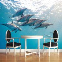 主题酒店工程壁画 宾馆背景海洋无纺布壁纸 情侣主题房3D墙纸魔方壁画