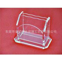 透明亚克力卡片盒子 有机玻璃名片盒子 压克力展示盒