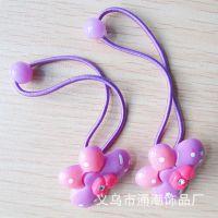 2014新品上市 韩版糖果色皮筋小夹子清新发饰儿童套装两元店货源