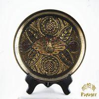巴基斯坦手工铜雕工艺礼品批发 七彩点铜挂盘 异域家居饰品 BH038