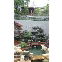 杭州别墅假山鱼池设计制作 太湖石假山鱼池