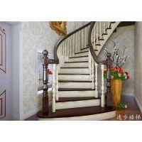 逸步楼梯|别墅玻璃旋转楼梯|神农架旋转楼梯