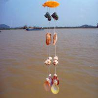 厂家长期供彩贝迷你家居小风铃 创意海螺风铃挂件热卖 全国批发