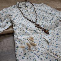 183-15033011)2015年春季新款棉麻文艺森林系碎花长款连衣裙