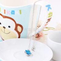 14年新款蓝宝石镶嵌心形吊坠 厂家直销韩版时尚吊坠低价批发