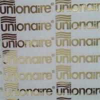 金属电镀金色logo薄标文字转移标