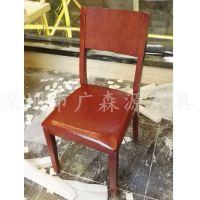 实木餐椅简约餐厅时尚白橡木餐椅靠背椅凳 酒店椅子批发