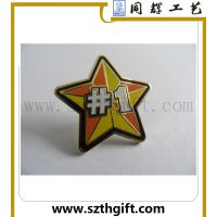 供应金属徽章 深圳同辉高品质星星珐琅徽章 可来图稿定做
