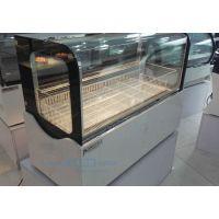 艾豪思台上式直角圆弧冰淇淋柜豪华小型冰箱雪糕冷冻柜手工冰棒展示柜