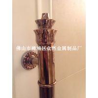 供应 众钰 ZY-A009 不锈钢古铜拉手铝管雕花拉手