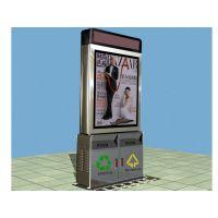 工厂定制太阳能垃圾箱 滚动广告垃圾箱 太阳能广告垃圾箱