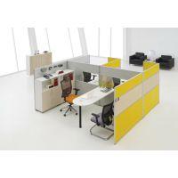 深圳办公家具现代员工电脑桌 屏风简约职员办公桌椅4人位组合包送装