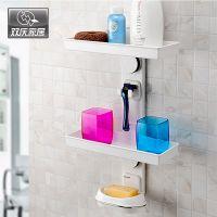 批发双庆魔力吸盘DIY浴室置物组合收纳架 专利产品置物组合架