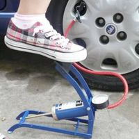 自行车打气泵电动摩托车充气机脚踏打气筒脚踩车载充气泵汽车用品