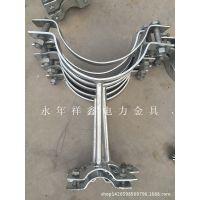 祥鑫电力常年专业生产镀锌拉线抱箍 管托抱箍  U型抱箍