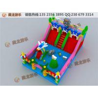 庙会上最赚钱的生意就选儿童充气城堡,适合做庙会生意的充气玩具